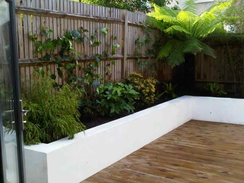 Garden to the left (before hostas added)