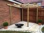 Long narrow modern garden