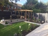 New garden with deck and pergola