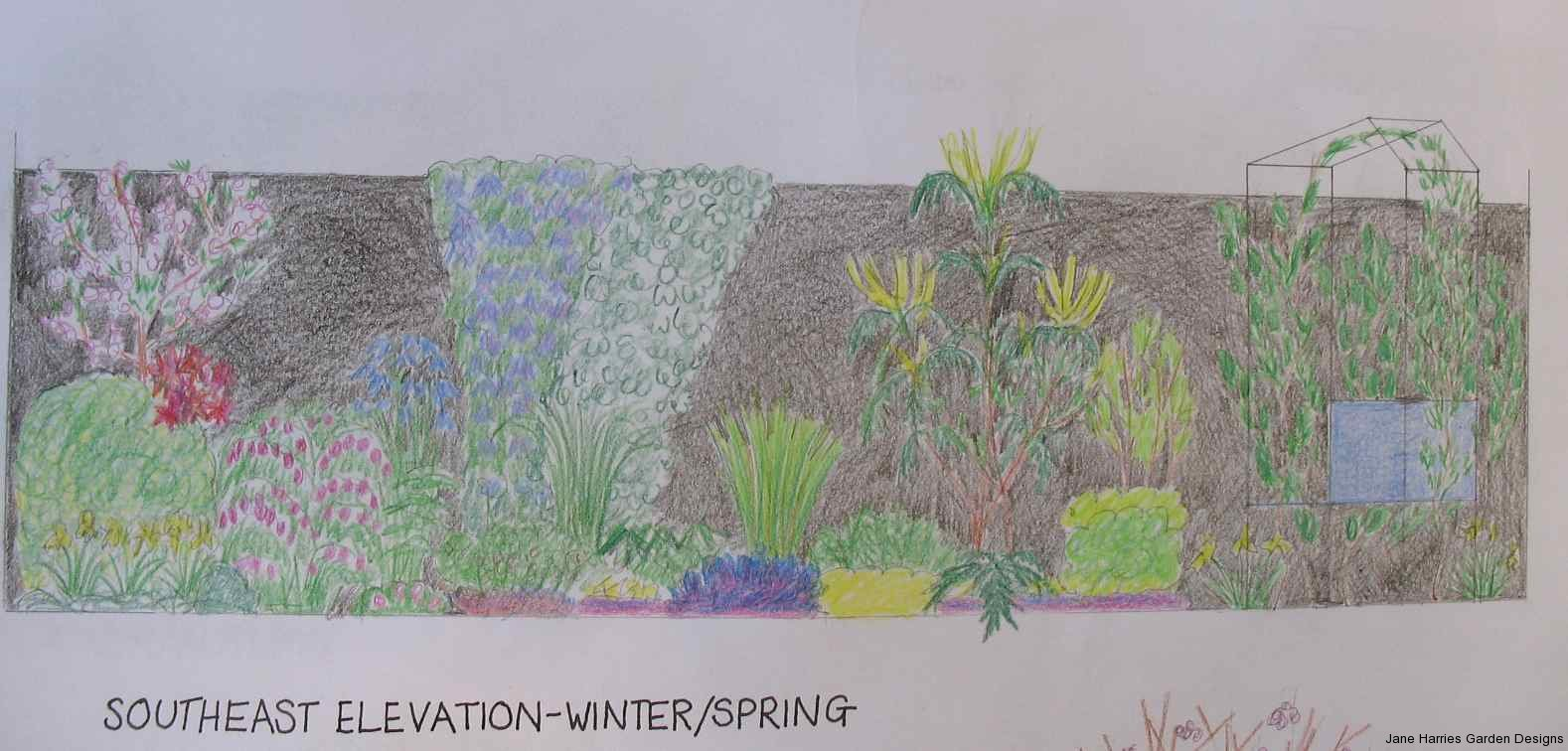 SW elevation winter/spring