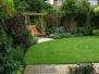 Romantic suburban garden