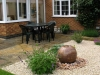 Water feature and terrace